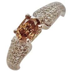 FANCY Dark ORANGE-Yellow Diamond in Custom Ring