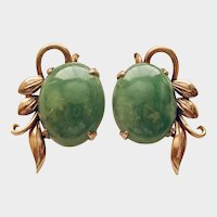 JADEITE EARRINGS, Natural 100% & Perfect Matched Pair! Certified.!