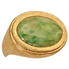 OMPHACITE (Jadeite Relative) Ring, NATURAL, Very Rare