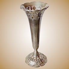 TIFFANY Sterling Silver Trumpet Vase Antique