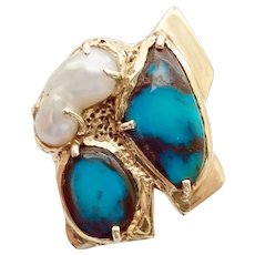 "Turquoise ""Old Bisbee Mine, AZ"" Ring"