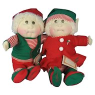 All Cloth Cabbage Patch Elves All Original with  Papers, Hang Tags Not Coleco