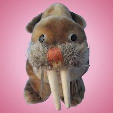 Steiff Walrus Vintage Mohair Wood Tusks