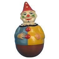 Vintage Papier Mache Roly Poly Clown