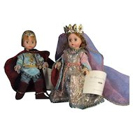 Camelot Pair by Madame Alexander Vintage with Certificates MIB