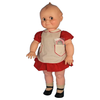 """Vintage Large KEWPIE DOLL Cameo Original Outfit 26.5"""" tall Plastic and Vinyl"""