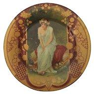 Royal Saxony Tin Art Plate Art Noveau Era