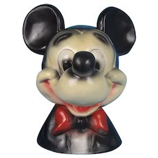 Mickey Mouse Chalkware Still Bank Vintage