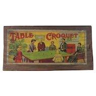 Antique Table Top Croquet Set