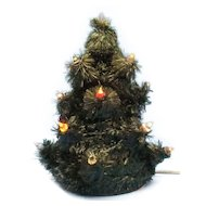 Early Artificial Christmas Tree with Glass Rod Lights