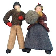 Hand Made Cloth Dolls Dressed in Wool Made in New Brunswick, Canada