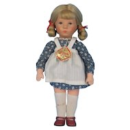 Kathe Kruse Vintage Doll Muslin Body Tagged Original Outfit