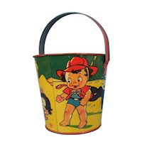 Vintage Sand Pail and Shovel US Metal Toy MFG. Co.