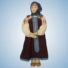 Cloth Doll Made in the Soviet Union