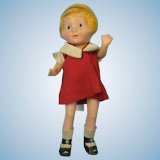 Little Orphan Annie Composition Doll Vintage