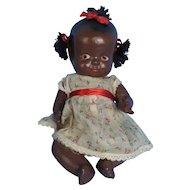 Black Composition Baby Doll Vintage