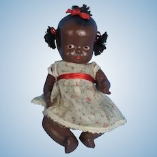 Black Composition Baby Doll Vintage