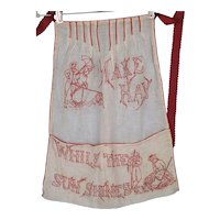 Red Work Apron