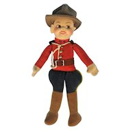 Norah Welling Vintage Cloth Mountie Doll
