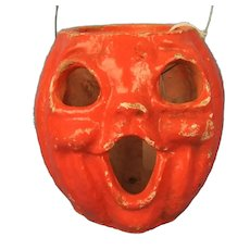 Vintage Jack-O-Lantern Candy Container