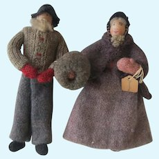 Greenland  Wool Knit and Woven Dolls