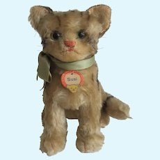 Steiff Susi Cat Vintage Mohair Glass Eyes
