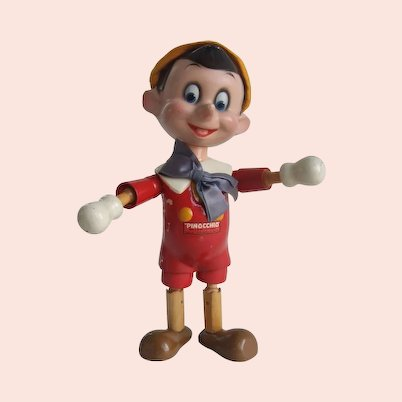 Pinocchio Wood and Composition Segmented Doll Ideal Disney