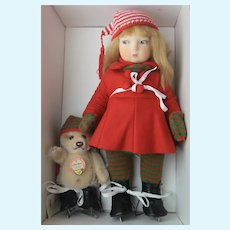 """""""Winter Time Edith"""" and """"Little Bear"""" Limited Edition of 375 by Haut Melton and Steiff"""