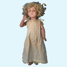Schoenhut Miss Dolly with Sleep Eyes Original Wig and Clothing No Over Paint