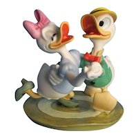 """Disney Figurines Mr. Duck Steps Out and Mr. Duck Steps Out """"Oh Boy, What a Jitterbug"""""""