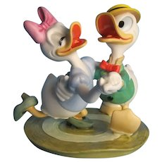 "Disney Figurines Mr. Duck Steps Out and Mr. Duck Steps Out ""Oh Boy, What a Jitterbug"""
