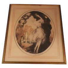 Fidelity Etching by Louis Icart Antique Original