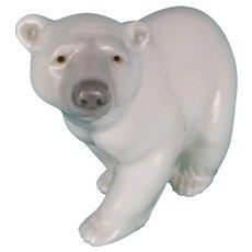 Lladro Glazed Porcelain Polar bear