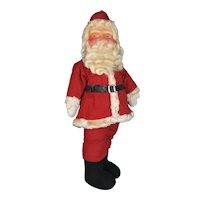 Mask Faced All Cloth Santa with Mohair Beard