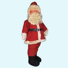 Mask Faced All Cloth Santa with Mohair Beard