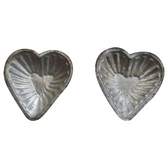 Early Heart shaped tins molds