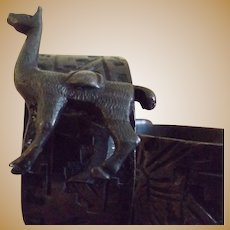 Sterling Llama napkin ring holders Peru
