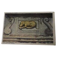 Vintage postcard The Golden Dog Quebec Canada 1929