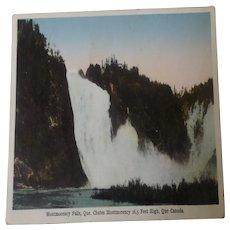 Vintage Postcard MontMorency Falls Quebec Canada 1929