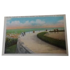 Vintage Postcard The Lookout Mount Royal Montreal 1920's