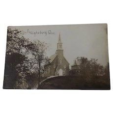 Vintage Postcard Frelighsburg Church Quebec 1920's