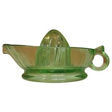 Green Glass Juicer Reamer