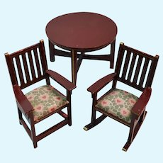 Gottschalk dollhouse table and chair set