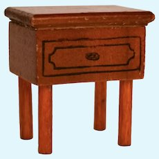 Vintage Kage Wood Dollhouse Nightstand