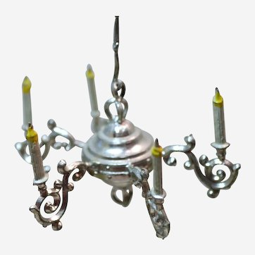 Vintage Dollhouse Soft Metal Chandelier