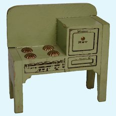Vintage 1930's Painted Wood Dollhouse Stove
