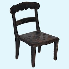 19th Century J & E Stevens Iron Dollhouse Chair