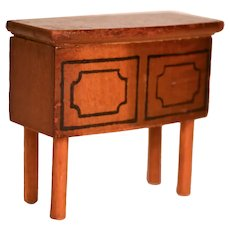 Vintage Kage Dollhouse Wood Small Buffet/Sideboard