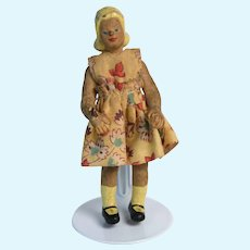 Rare 1940's Rubber Dollhouse Doll with Original Clothes