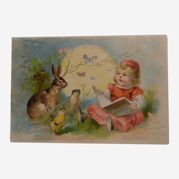 1892 Woolson Spice Antique Easter Greetings Trade Card